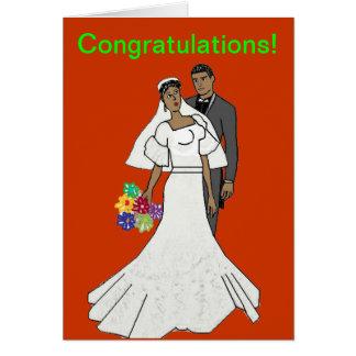 Ethnic couple card