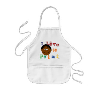 Ethnic Curly Hair Boys Face Painting Kids Apron