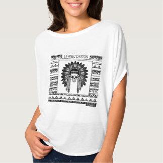 Ethnic Design 01 Top - Native American Skull