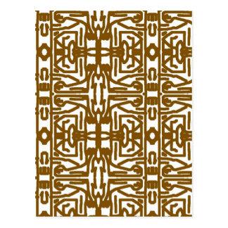 Ethnic Design Postcard