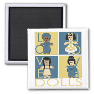 Ethnic Dolls Magnet