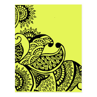 Ethnic doodle postcard