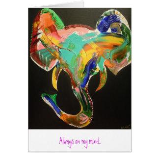 Ethnic Elephant Card