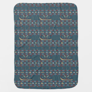 Ethnic Fishing Pattern Baby Blanket
