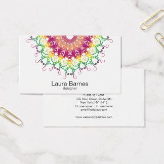 Ethnic floral mandala. business card