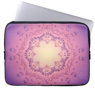 Ethnic floral mandala. laptop sleeve