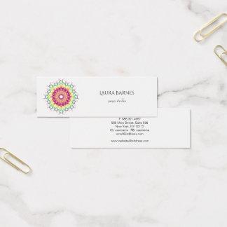 Ethnic floral mandala. mini business card