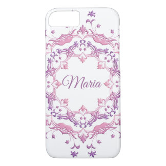 Ethnic floral mandala. Monogram. iPhone 8/7 Case