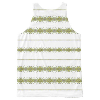 Ethnic Floral Stripes All-Over-Print Tank Top