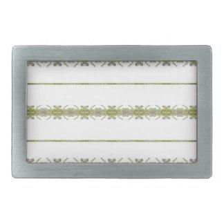 Ethnic Floral Stripes Belt Buckle