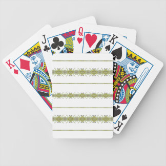 Ethnic Floral Stripes Bicycle Playing Cards