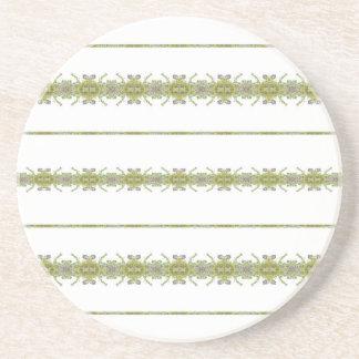 Ethnic Floral Stripes Coaster
