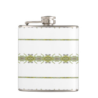 Ethnic Floral Stripes Hip Flask