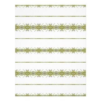 Ethnic Floral Stripes Letterhead