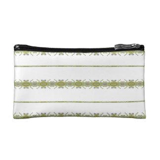 Ethnic Floral Stripes Makeup Bag