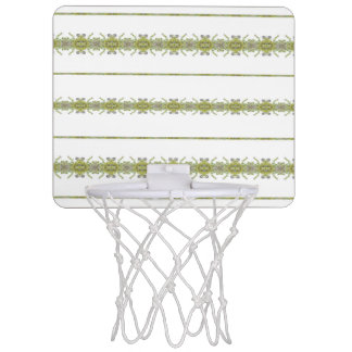 Ethnic Floral Stripes Mini Basketball Hoop