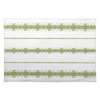Ethnic Floral Stripes Placemat