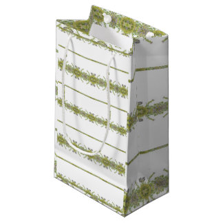 Ethnic Floral Stripes Small Gift Bag