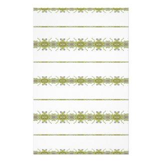 Ethnic Floral Stripes Stationery