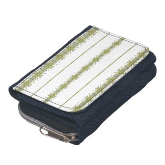 Ethnic Floral Stripes Wallets