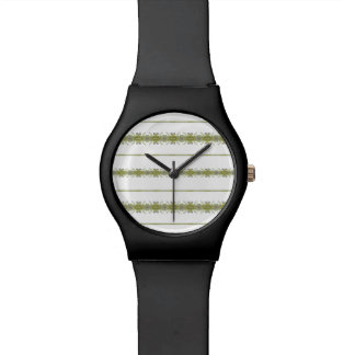Ethnic Floral Stripes Watch