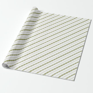 Ethnic Floral Stripes Wrapping Paper