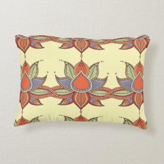 Ethnic flower lotus mandala ornament accent pillow