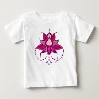 Ethnic flower lotus mandala ornament baby T-Shirt