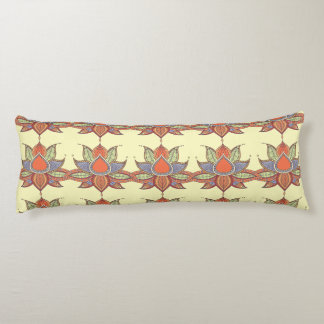 Ethnic flower lotus mandala ornament body pillow