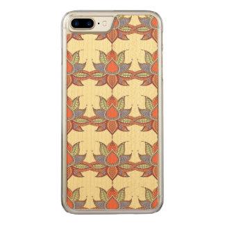 Ethnic flower lotus mandala ornament carved iPhone 8 plus/7 plus case