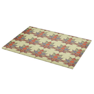 Ethnic flower lotus mandala ornament cutting board