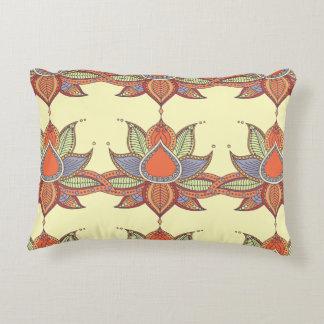 Ethnic flower lotus mandala ornament decorative pillow