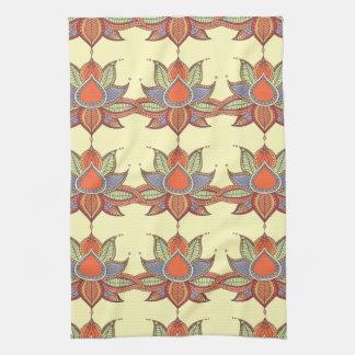 Ethnic flower lotus mandala ornament kitchen towel