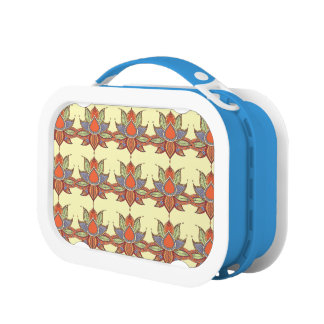 Ethnic flower lotus mandala ornament lunch box