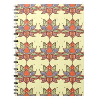 Ethnic flower lotus mandala ornament notebook