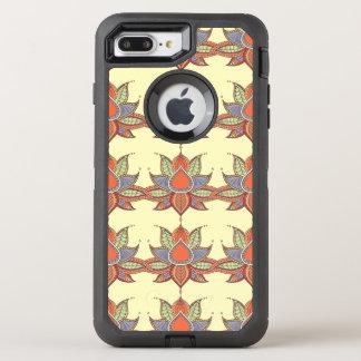 Ethnic flower lotus mandala ornament OtterBox defender iPhone 8 plus/7 plus case
