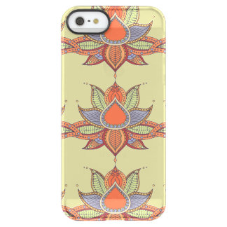 Ethnic flower lotus mandala ornament permafrost® iPhone SE/5/5s case