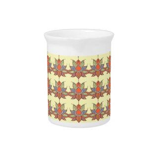 Ethnic flower lotus mandala ornament pitcher