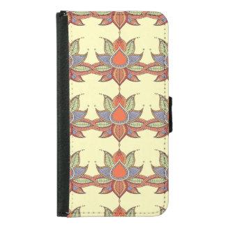 Ethnic flower lotus mandala ornament samsung galaxy s5 wallet case