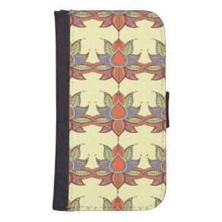 Ethnic flower lotus mandala ornament samsung s4 wallet case