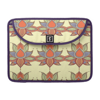 Ethnic flower lotus mandala ornament sleeve for MacBook pro