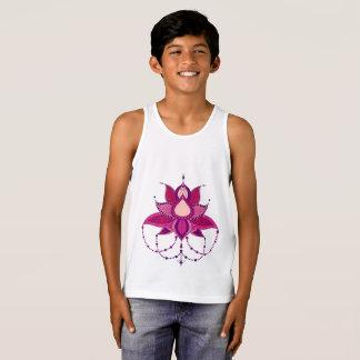 Ethnic flower lotus mandala ornament tank top