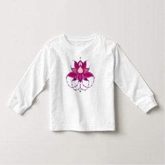 Ethnic flower lotus mandala ornament toddler t-shirt