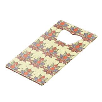 Ethnic flower lotus mandala ornament wallet bottle opener