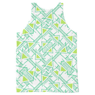 Ethnic Geo Pattern All-Over-Print Tank Top