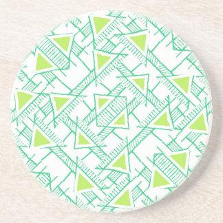 Ethnic Geo Seamless Pattern Beverage Coasters