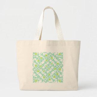 Ethnic Geo Seamless Pattern Large Tote Bag