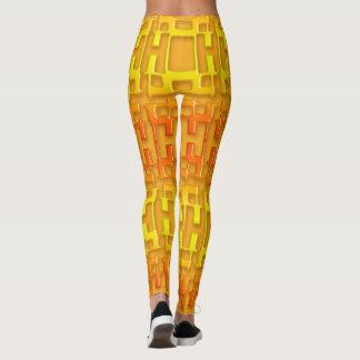Ethnic geometric orange pattern. leggings