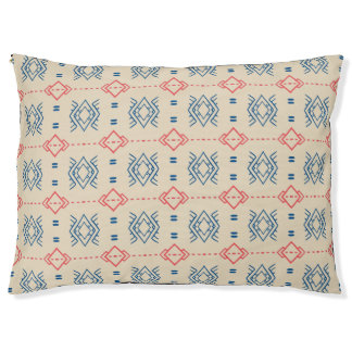Ethnic Geometric Pattern Pet Bed