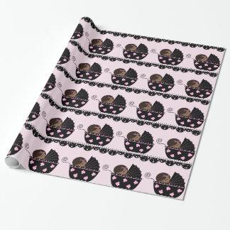 Ethnic Girl Baby Shower Gift Wrap